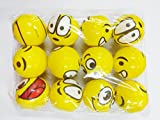 #3: Cute Funny Yellow Emoji Smiley Face Squeeze Ball Pack of 12