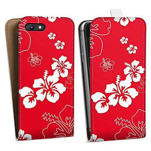 Apple iPhone X Silikon Hülle Case Schutzhülle Sommer Blumen Muster Downflip Tasche weiß