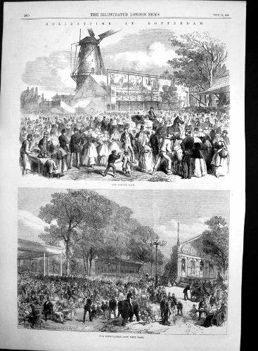 Rotterdam jährliches angemessenes Dier-Gaarde drängt Elefanten 1868 (Elefant Jährliche)