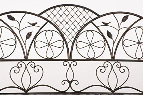 CLP Metall-Gartenbank RIEF, Landhausstil, lackiertes Eisen, ca. 110 x 50 cm, Design nostalgisch antik Bronze - 4