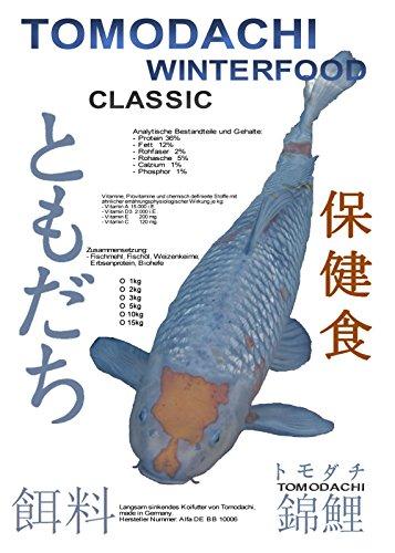 Produkt-Bild: Tomodachi Winterfutter, Koifutter energiereiches Sinkfutter für junge und erwachsene Koi mit arktischem Fischöl und Fischmehl 3kg, 5 mm Koipellets im wiederverschließbaren PE-Eimer
