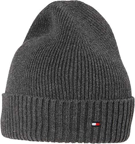 Tommy Hilfiger Herren PIMA Cotton Beanie Strickmütze, Grau (grey 0g5), One Size (Herstellergröße:OS)