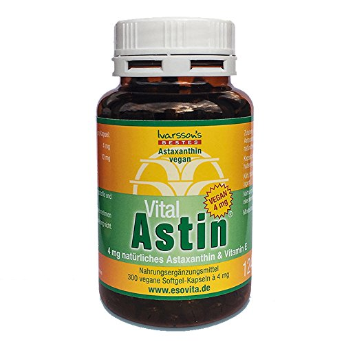 Amalgam-kapseln (Astaxanthin - versandkostenfrei - VitalAstin vegan 300 Kapseln mit 4 mg Astaxanthin)