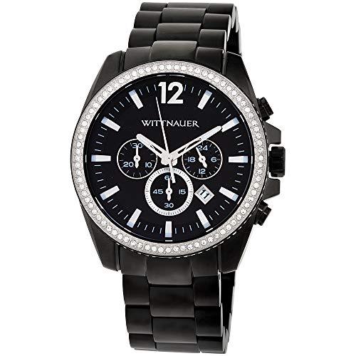 Wittnauer WN3028 Men's Lucas Chronograph Black Dial Black IP Steel Bracelet...