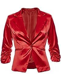 Amazon.it: giacca rossa donna elegante 34 Donna