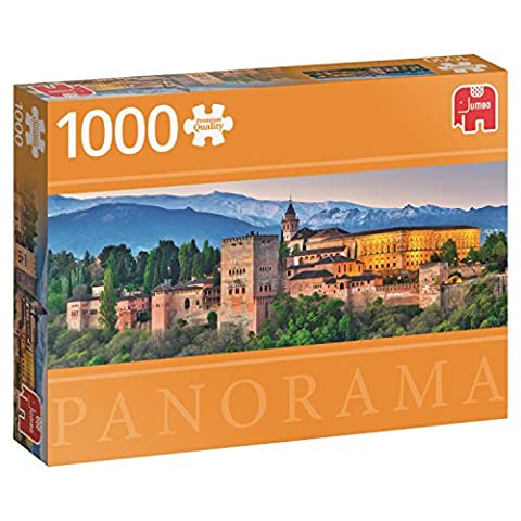 Jumbo Jumbo Premium Puzzle Collection 'Alhambra, Spain' 1,000 Piece Panoramic Jigsaw Puzzle