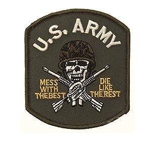 Ecusson / Patch Brode U.s. Army Skull Avec Casque Thermo Collant Airsoft Kza-e705/442306735