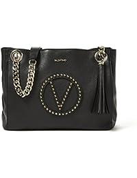 VALENTINO Mario Valentino Valentino By Mario Valentino Luisa Rock Studded Leather Shoulder Bag - Black