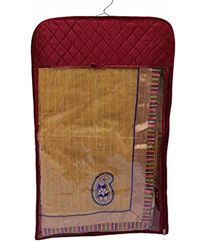 Kuber Industries™ Hanging Designer Saree Cover in Heavy Quilted Satin Set of 6pcs, Wedding Collection