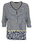 Verpass Kurzarm Shirt-Jacke Rundhals Ringel Nachtblau/weiß Größe 48