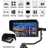 Monitor da campo fotocamera da 5 pollici, Full HD 1920x1080 IPS Video Assist per DSLR con 4K HDMI 8V DC in/out
