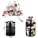 TAPCET Organizer per cosmetici 360° ruotare Organizer Scatola Organizzatore Make up Casella di immagazzinaggio per rossetto, pennello, flacone cosmetico ecc nero