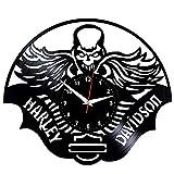 WCZZH Harley Davidson Orologio da Parete Vinyl Record Orologio da Vinile Harley Davidson