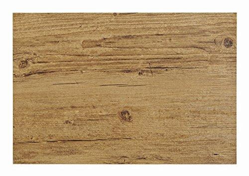 Tischset in brauner Holz-Optik, 4er-Set | Platzset je 45x30 cm | Aus Kunststoff und robustem PVC | Abwaschbarer Tischschutz, 4-teilig | Tischdeckchen Tellerunterlage in Braun | Holz-Style Holz-Look