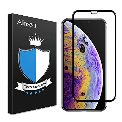 Alinsea Screen Protector For Iphone Xs Max Case Friendly Full Coverage 3d Tempered Glass 3d Touch Face Id Compatible Bubble Free Install Frame