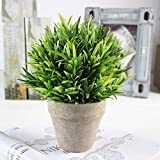 Pianta artificiale in vaso decorativo plastica mini Fake Lifelike fiore verde topiaria piante per arredamento, Luohan, Taglia libera