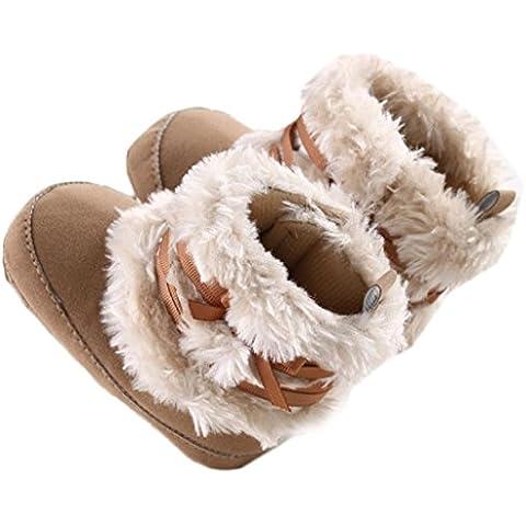 Koly® Zapatos de bebé Bowknot - Niño Invierno Nieve Botas calientes (Marrón, 11)