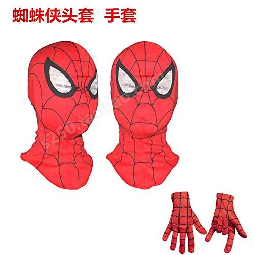 umebiz Spiderman Headgear Halloween Handschuhe Cartoon Anime Maske Kind Erwachsene Spiderman Maske (Erwachsene Spiderman Maske)