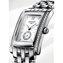 Longines Dolcevita l51550166 Quartz Watch (Rechargeable) quandrante White Strap Stainless Steel