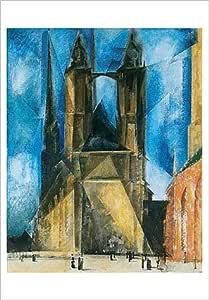 Amazon.de: Marktkirche (von Halle Kunstdruck von Lyonel