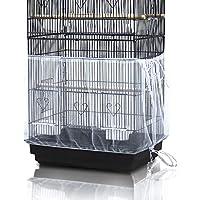 ASOCEA Universal Birdcage Cover Seed Catcher Cage falda para loro en malla de nylon - Blanco (No incluye Birdcage)