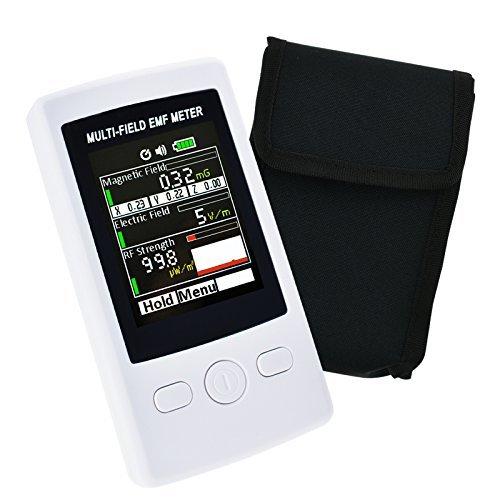 Mehrfeld EMF ELF Meter Handheld RF Gaussmeter 0,02-2000 mg (0,02 bis 200 uT) Elektromagnetische Elektrische RF Stärke Feld Tester Niederfrequenz Magnetfeldern mit Warnsummer