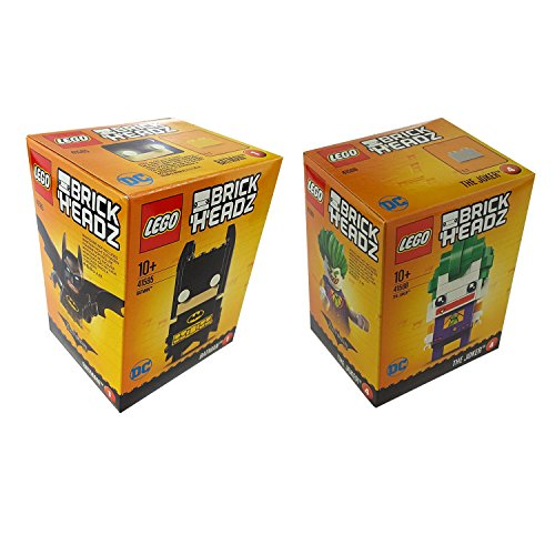 Lego BrickHeadz 2er Set 41585 41588 Batman + The Joker