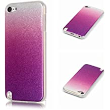 Voguecase® Para Apple iPod Touch 5G/iPod Touch 6G Funda,(Cambio gradual II-púrpura rojo) TPU protectora de Silicona de Gel Funda Tapa Case Cover con Absorcion de Impactos y Anti-Aranazos Espalda Movil Celular Carcasa+ Gratis aguja de la pantalla stylus universales