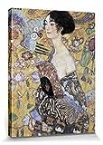 Gustav Klimt Poster Reproduction sur Toile, Tendue sur Châssis - Dame À L'Éventail, 1917-18 (80 x 60 cm)