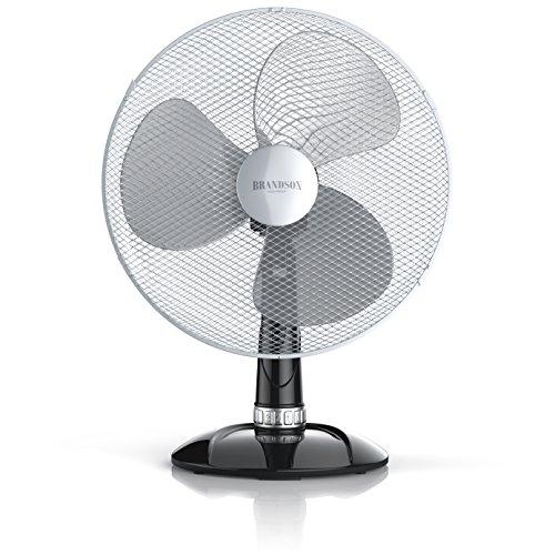 Brandson - Tischventilator 40 cm  Windmaschine  - Tisch Ventilator mit 3-Leistungsstufen