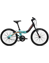 Orbea Grow 2niños bicicleta 20pulgadas 1Gang Cilindro de aluminio hendiduras ajustable, g00320K, color negro, tamaño talla única