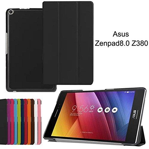 ASUS zenpad 8.0Smart Cover, Stand Cover Ultra Slim Flip Leder Case mit Auto Sleep/Wake Funktion für ASUS zenpad 8.0Z380z380m/z380C/z380kl 20,3cm Tablet Fall schwarz