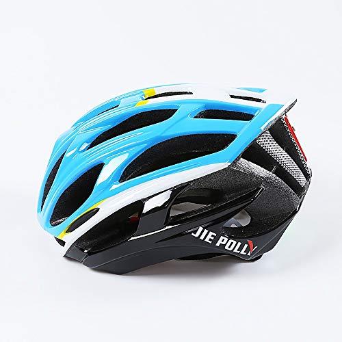 Casco de Bicicleta, Casco De Bicicleta Unisex con La Luces traseras LED de Seguridad ajustablede guía Protección de Seguridad Ajustable Casco de Bicicleta Ligera