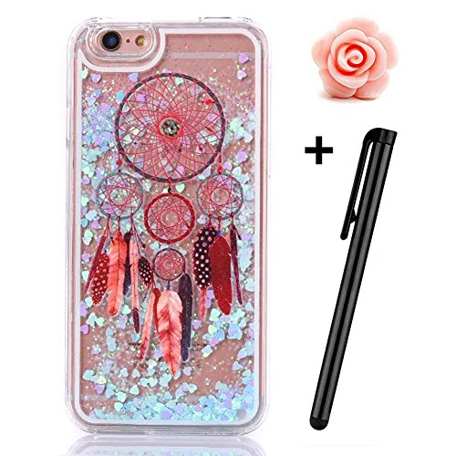 iPhone 6S Plus Hülle,iPhone 6 Plus/6S Plus Hülle Case,TOYYM 3D Kreativ Design Dynamisch Fließen Flüssig Handyhülle PC Hardcase Hüllen für Apple iPhone 6 Plus/6S Plus 5.5inch,Glitter Glitzer Sparkle Ha Dreamcatcher#18