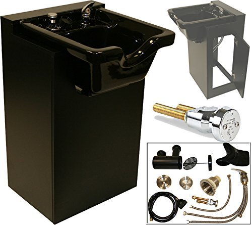 Heavy-duty Shampoo (LCL Beauty Deluxe Black Shampoo Cabinet with Heavy Duty CERAMIC Shampoo Bowl & Vacuum Breaker by LCL Beauty)
