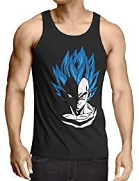 style3 Super Vegeta Blue God Mode Débardeur Homme Tank Top ball z