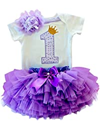 7a43f9474 Placehab Branded My Little Girl First 1st Birthday Party Dress Tutu Cake  Smash Outfits Infant Kid Dress Baby Girls Baptism…