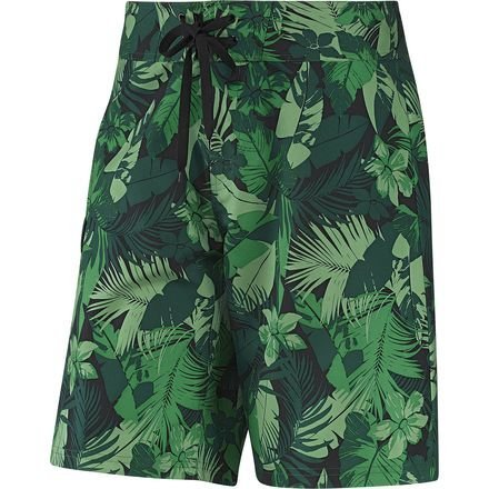adidas - Tropical Print Surfshorts - Forest - 2XL (Print Kurze Palm)