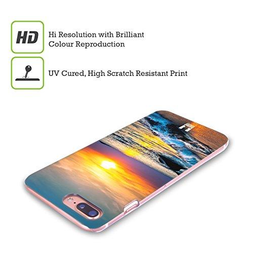 Head Case Designs Onde Trasparenti Spiagge Meravigliose Cover Retro Rigida per Apple iPhone X Tramonto Colorato Sul Mare