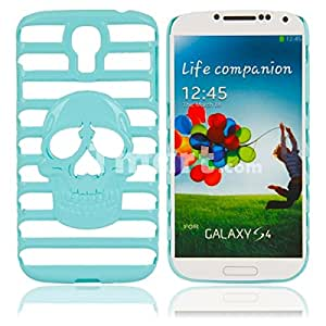 Metal Protective Case with Skeleton and Ladder Pattern for Samsung S4 i9500 Light Blue
