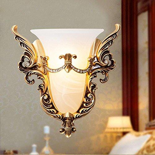 til Wand Lampe Schlafzimmer Nachttisch Licht Gold Gürtel Wohnzimmer TV Hintergrund Wand kreative Vintage Wandleuchte ()