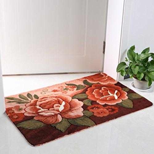 Hmy LRW WC Saugfähigen Pad In das Wohnzimmer Tür Matte Mat Badezimmer Schlafzimmer Bad Matte Teppich Matte (Color : A, Size : 58 * 88Cm)