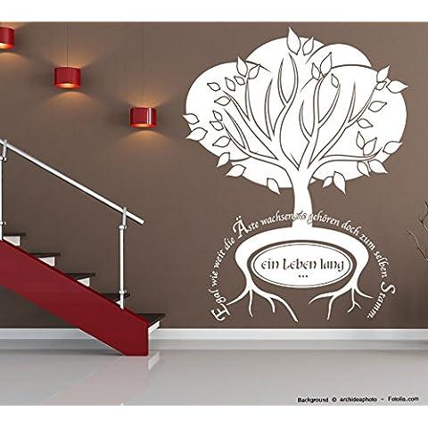 Adesivo da parete–famiglia albero–Ein Leben Lang Tree Ortensia (Ortensia Albero)