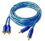 5m Cinch Kabel, markierte Kabelenden, vergoldete Stecker #RCA2000W#