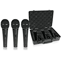 Behringer XM1800S Ultravoice Dynamic Microphone (Pack of 3)(color may slightly vary from Black to Dark Grey)