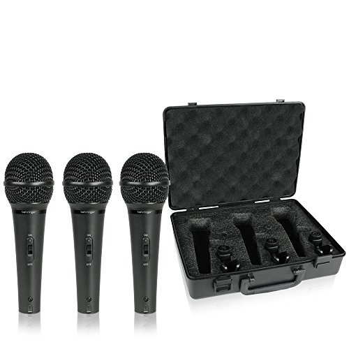 behringer-xm1800s-ultravoice-dynamic-microphone-pack-of-3color-may-slightly-vary-from-black-to-dark-