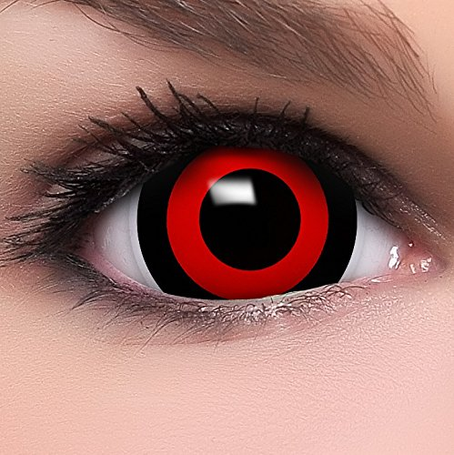 Farbige Maxi Sclera Kontaktlinsen Lenses Tokyo Ghoul inkl. Behälter - Top Linsenfinder Markenqualität, 1Paar (2 Stück)