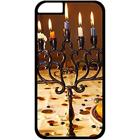 Unique Design Cover iphone 6/Cover iphone 6s Durable Hard Plastic Case Cover HANUKKAH jewish festival holiday candelabrum candle menorah hanukiah Chanukah