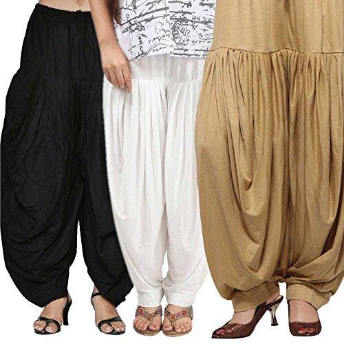 Rooliums Women's Cotton Salwar Combo Pack (HRSALBWBE_Black