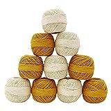 Embroidery Knitting 10 Stück Set Spun Skein Weiß Gelb Cotton Häkelgarn